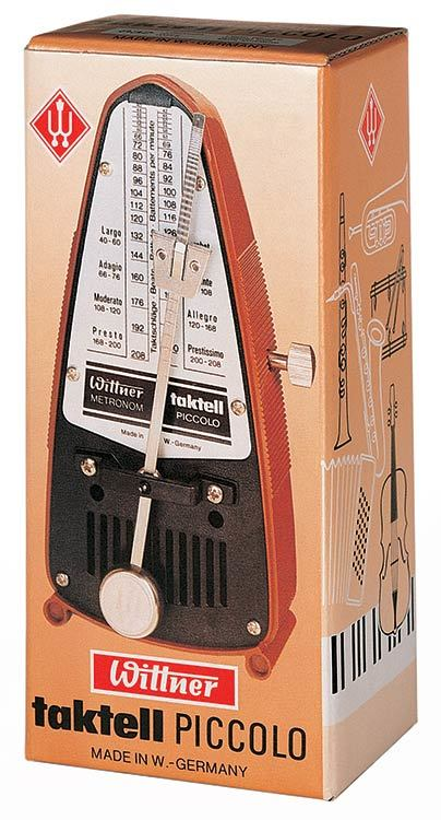 Wittner Taktell Piccolo Series Metronome in Black Colour
