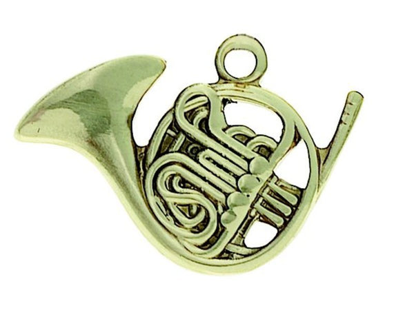 Keyring French Horn Polished Brass