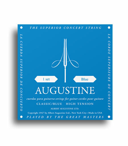 Augustine Classic Blue Strings - Regular Tension Trebles / High Tension Basses
