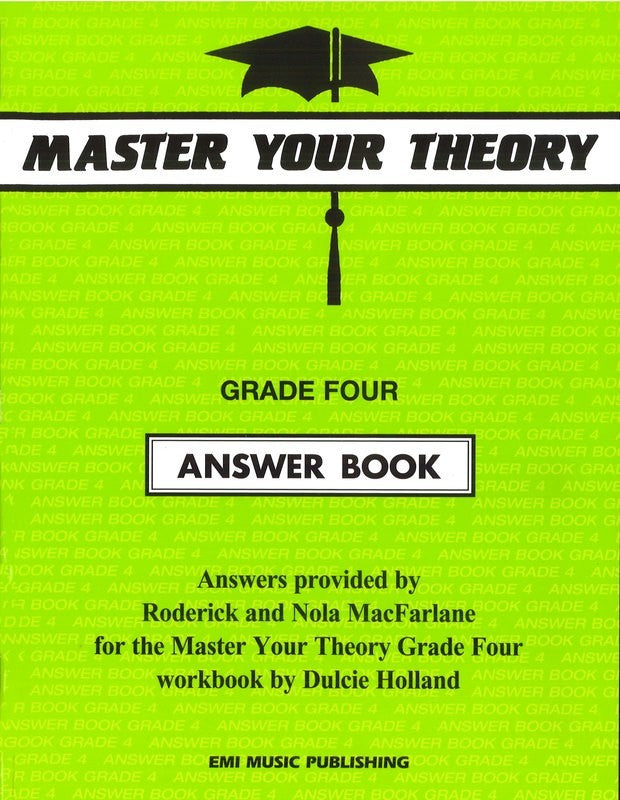 Master Your Theory Answer Book - Grade Four