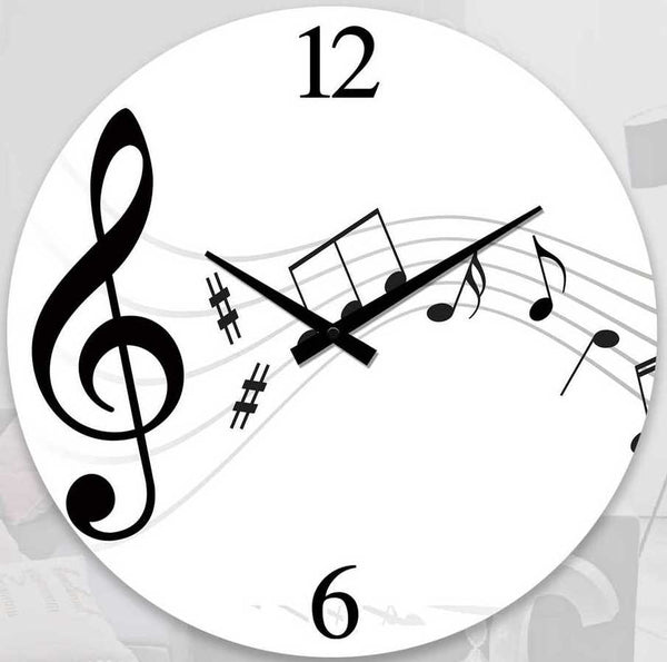 Clock – Music Notes 17cm Round