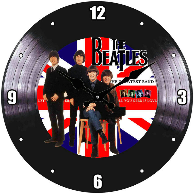 "Clock – The Beatles ""The Greatest Band"" 30cm Round"