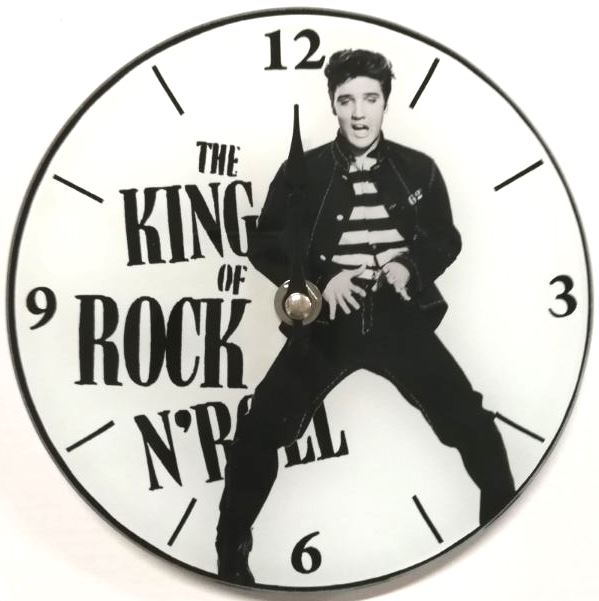 Clock – Elvis Presley King of Rock and Roll 17cm Round