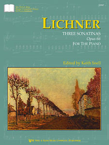 Lichner : Three Sonatinas Op.66