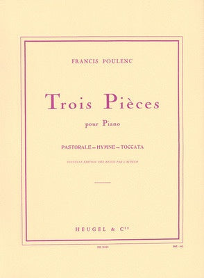 Poulenc Three Pieces For Piano