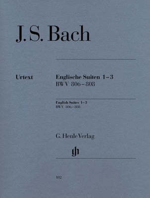 JS Bach : English Suites 1-3 BWV 806-808 : Henle Edition