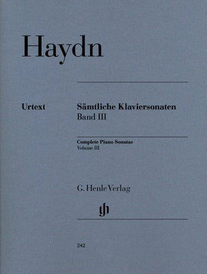 Haydn : Piano Sonatas Volume 3 : Henle Edition
