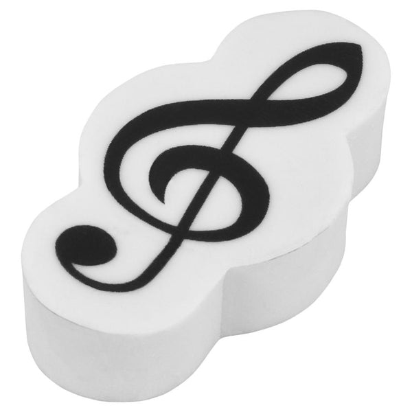 Eraser Black & White Treble Clef