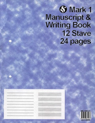 Mark 1 Manuscript & Writing Book 12 Stave 24 Pages