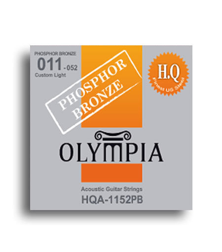 Olympia HQ Series Phosphor Bronze Custom Light Acoustic Guitar Strings Set (11-52)