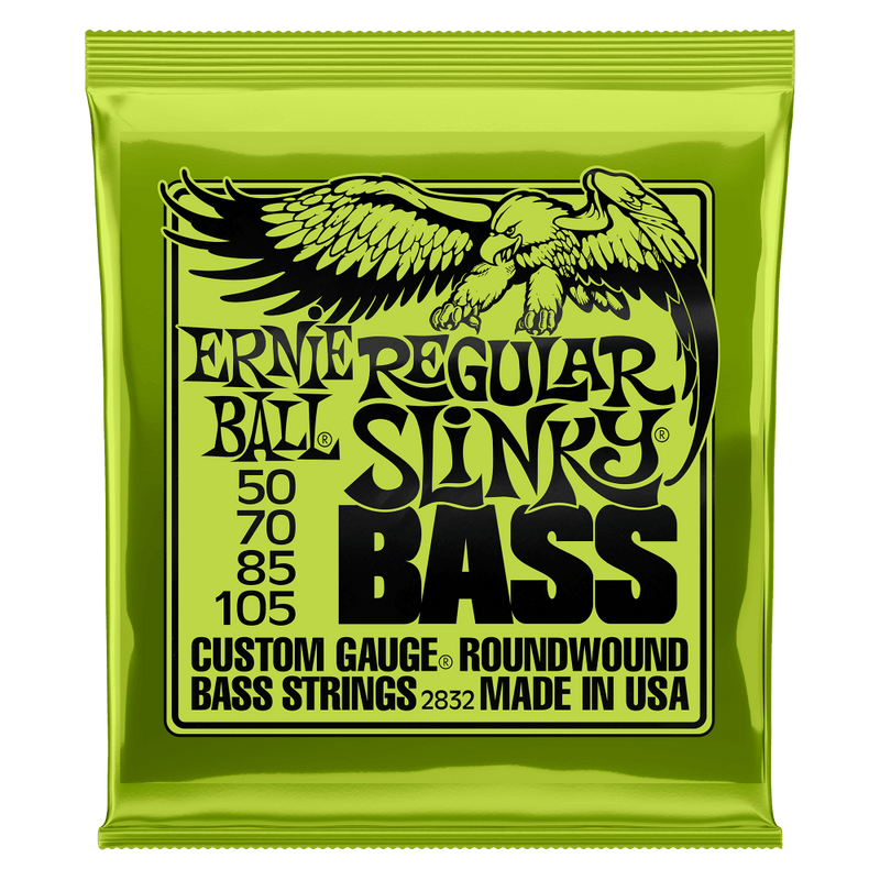ERNIE BALL REGULAR SLINKY NICKEL WOUND ELECTRIC BASS STRINGS - 50-105 GAUGE