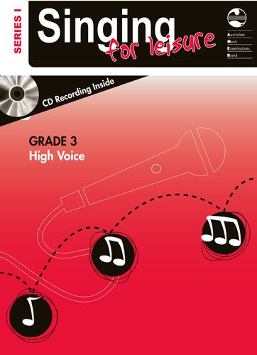AMEB Singing For Leisure Series 1 High Voice Book & CD - Grade 3