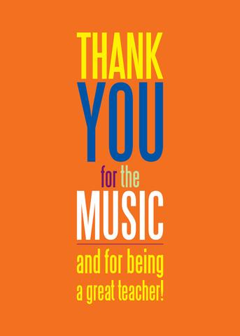 Greeting Card Thank-you For The Music