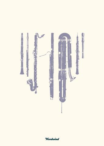 Woodwind Greeting Card