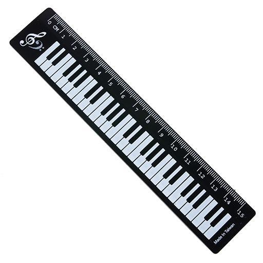 Ruler Keyboard Black 15cm
