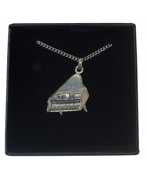 Necklace Grand Piano Pewter