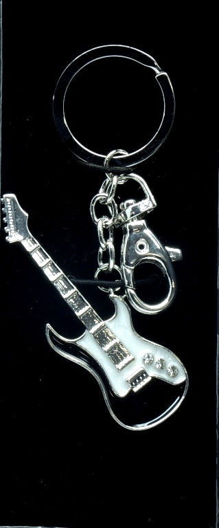 Key Ring Black Guitar
