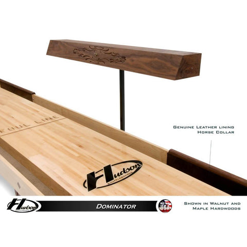 Image of Hudson Dominator Shuffleboard Table 9'-22' with Custom Wood and Stain Options