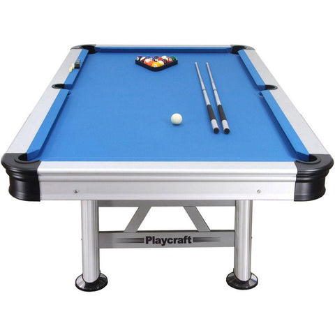 Image of Playcraft Extera 8' Outdoor Pool Table with Playing Accessories
