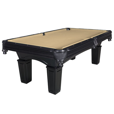 Hathaway Cobra Black 8ft Slate Pool Table