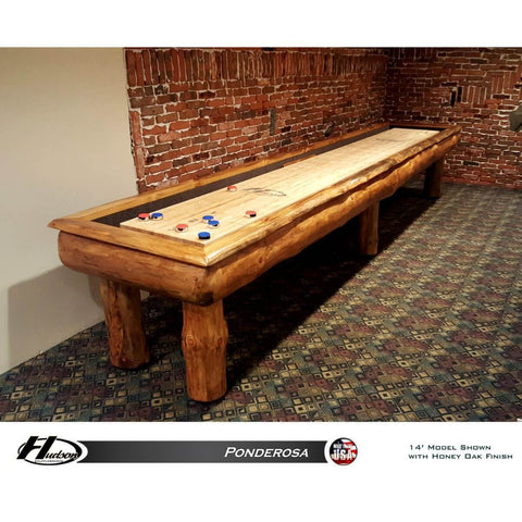 Image of Hudson Ponderosa Shuffleboard Table 9'-22' with Custom Stain Options
