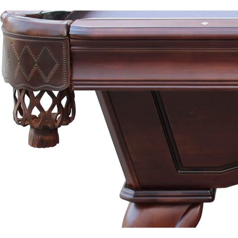 Image of Playcraft Charles River 8' Slate Pool Table with Leather Drop Pockets