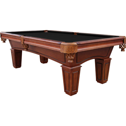 Playcraft St. Lawrence 8' Slate Pool Table with Leather Drop Pockets