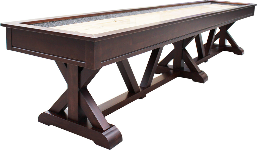 Playcraft Brazos River Weathered Black Pro-Style Shuffleboard Table 12', 14', 16'