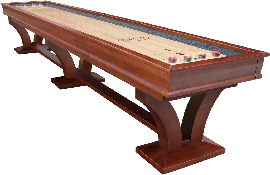 Playcraft Columbia River Espresso Pro-Style Shuffleboard Table 12', 14', 16'