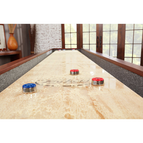 Image of Playcraft Columbia River Espresso Pro-Style Shuffleboard Table 12', 14', 16'