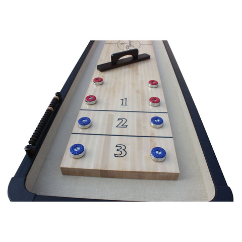 Playcraft Woodbridge Shuffleboard Table with Playing Accessories
