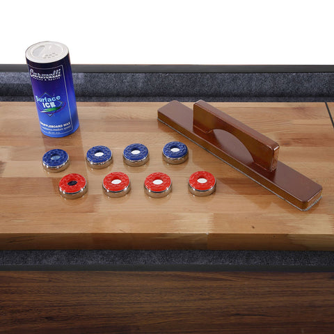 Image of Hathaway Challenger Walnut 12ft Shuffleboard Table