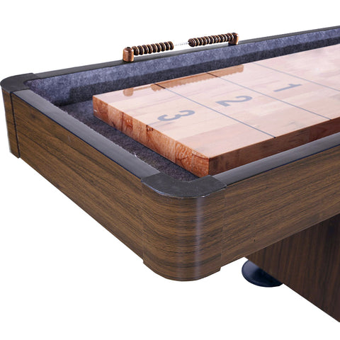 Hathaway Challenger Walnut 9ft Shuffleboard Table
