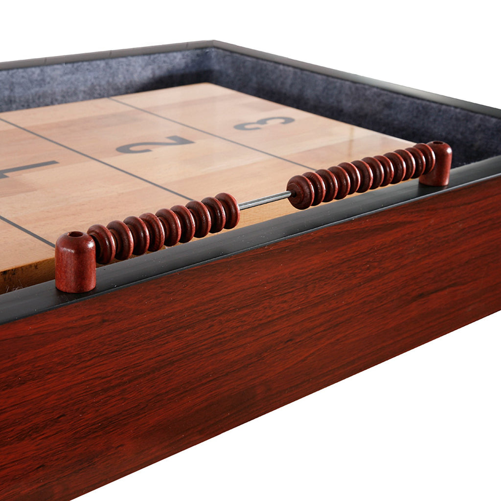 Hathaway Challenger 9ft Shuffleboard Table Dark Cherry