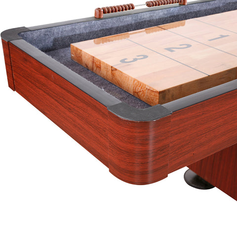 Image of Hathaway Challenger 9ft Shuffleboard Table Dark Cherry