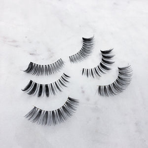 EVE Lashes - x3 Natural Lashes Bundle Pack (Perfect for Beginners)