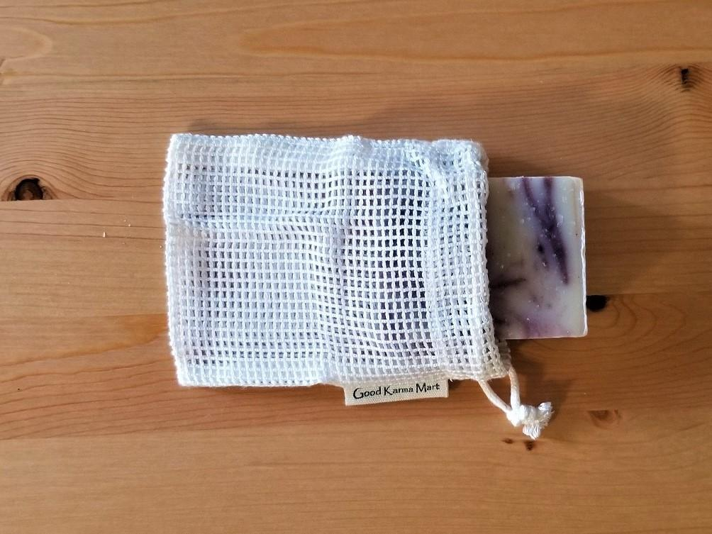 Bamboo Mesh Soap Saver Bag Good Karma Mart