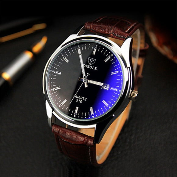 Relogio Masculino 2019 Brand Yazole Watch Business Belt Men's Watch Calendar Fashion Quartz Watch Unique Leisure Leather Watches