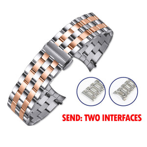 OTMENG Stainless Steel Watch band 18mm 20mm 22mm 24mm Bracelet Women/Men's Wrist Strap Suitable for Various Brand Watchband
