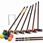 FAMILY CROQUET SET LAWN GAME