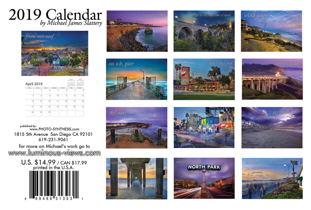 2019 Luminous Views Calendar