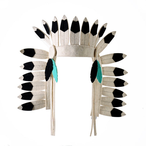 Indian Headdress Long Black