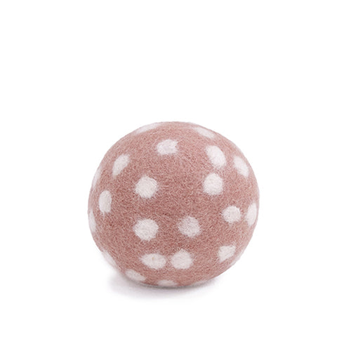 Felt spotty ball rose