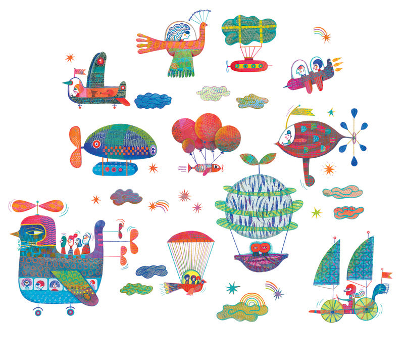 Djeco Wallstickers Aircraft