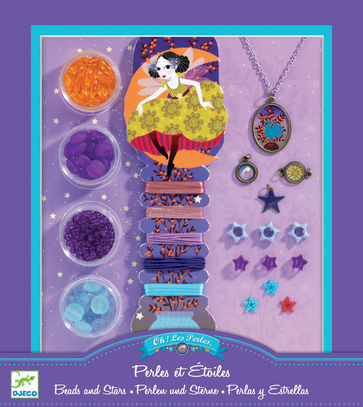 Djeco | Jewellery Making Kit | Beads and Stars