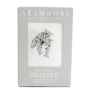 Alimrose | Muslin Cloth Swaddle | Koalas