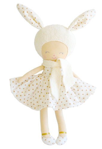 Alimrose - Belle Bunny Doll - Small with Gold Spots