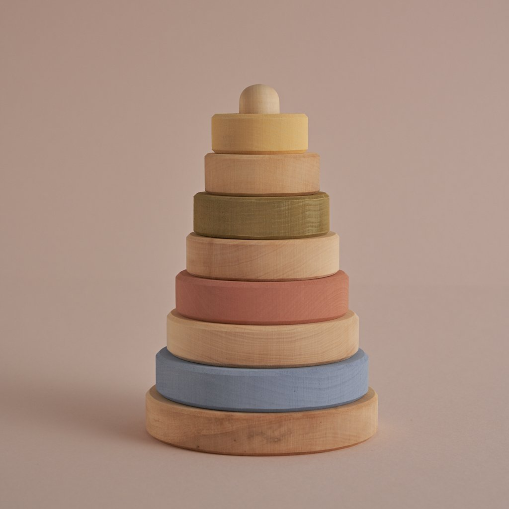 Raduga Grez | Stacking Tower | Pastel + Natural