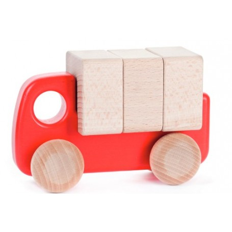 Bajo | Wooden Lorry with blocks | Red
