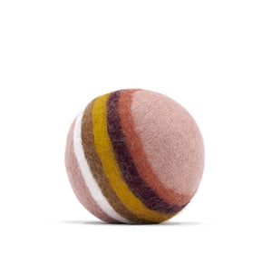 Muskhane | Felt Ball | Rainbow | Rose Quartz